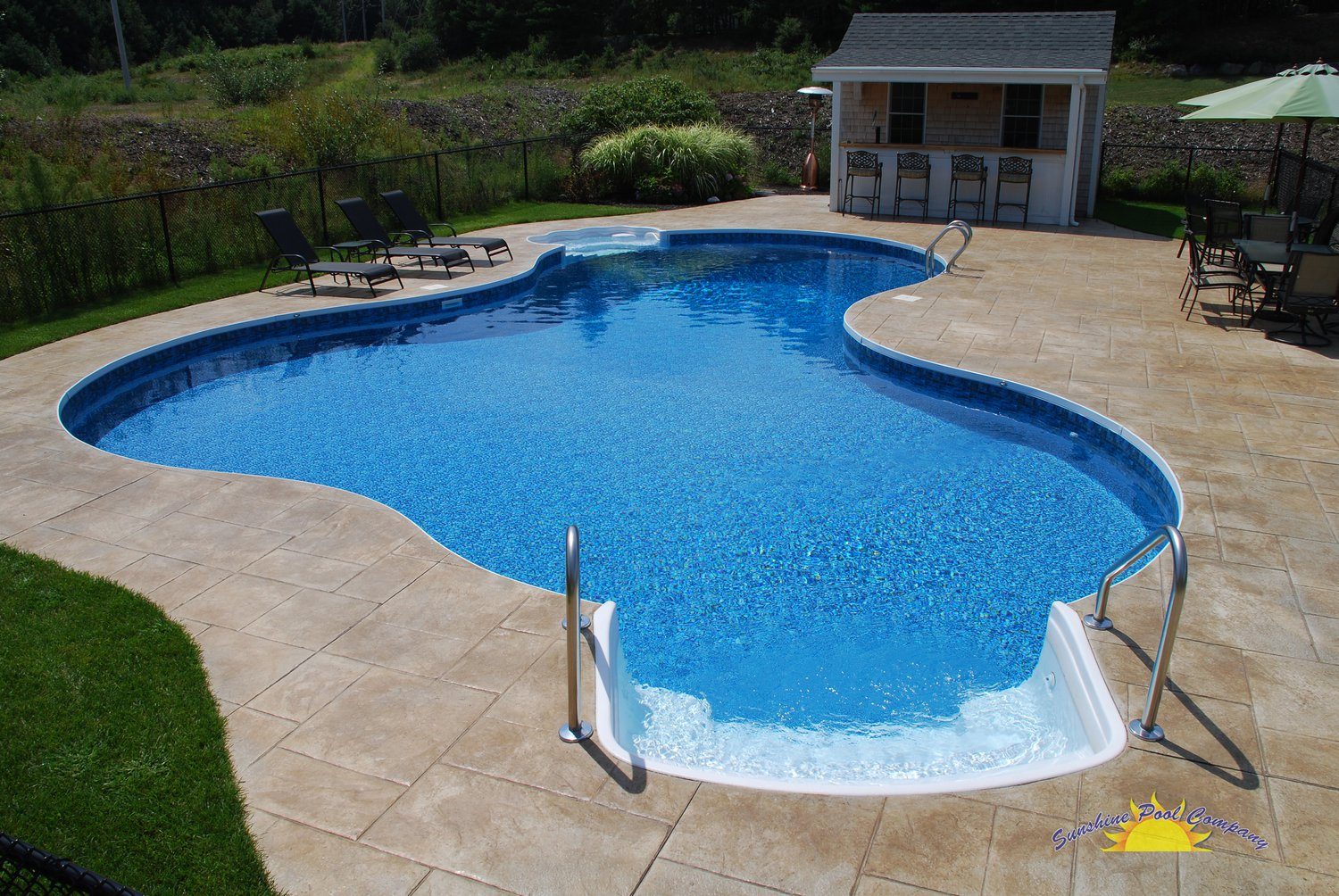 Sunshine pool company new pools in ground for Inground pool pics