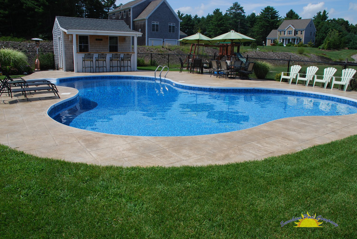 Sunshine pool company new pools in ground for Inground pool designs