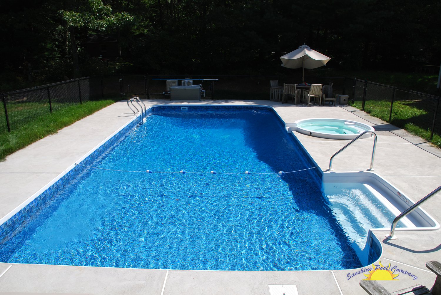 Sunshine pool company new pools in ground for Best in ground pool